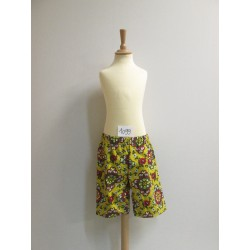 SHORT FLEURI ADULTE