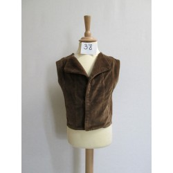 GILET MARRON ENFANT