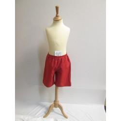 SHORT ROUGE ENFANT